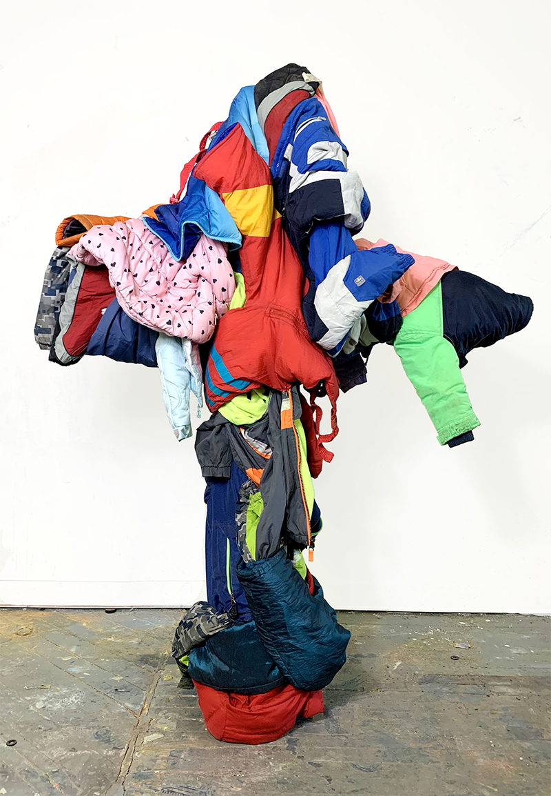 noah kashiani, artist in focus, up-cycled-sculpture, color