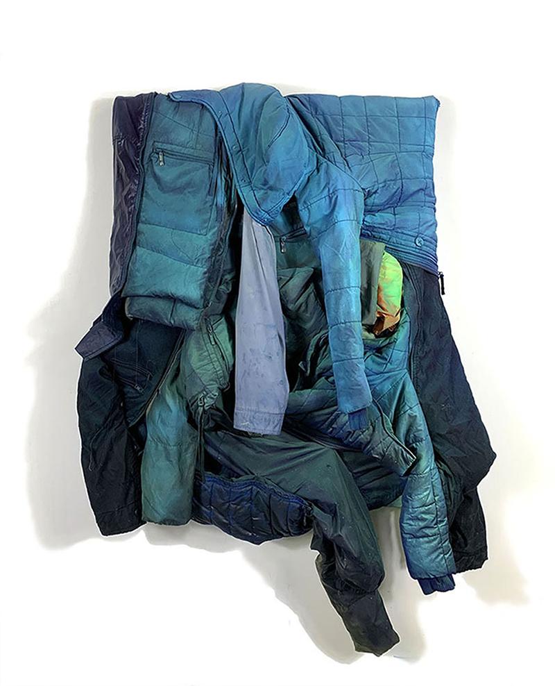noah kashiani, up-cycled jackets, fashio, art, sculpture, chicago