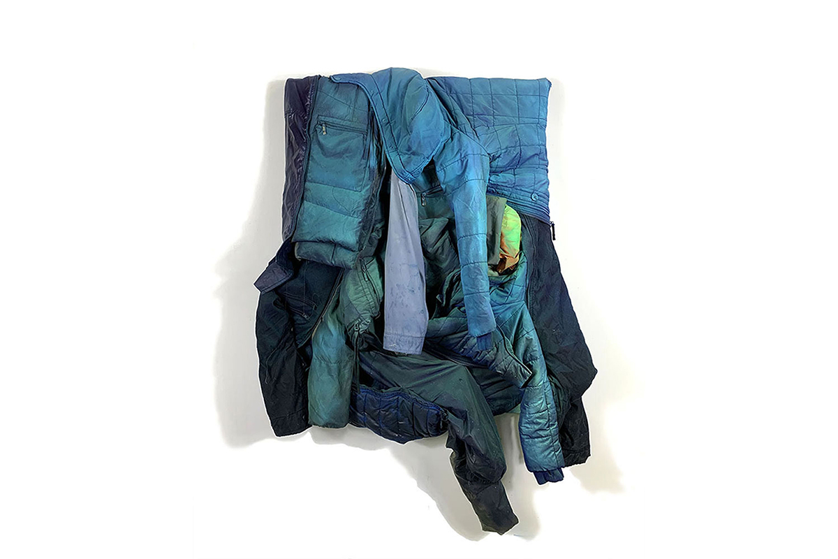 noah kashiani, featured artist, sculpture, mixed media, blue