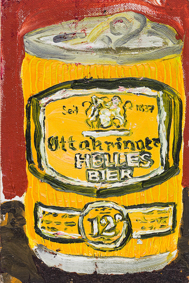maximiliano leon, austrian beer, oil painting, abstract art, daniel richter class