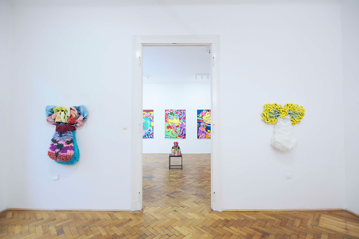 mira makai, exhibition, view, four rooms gallery, mixed media, contemporary artist