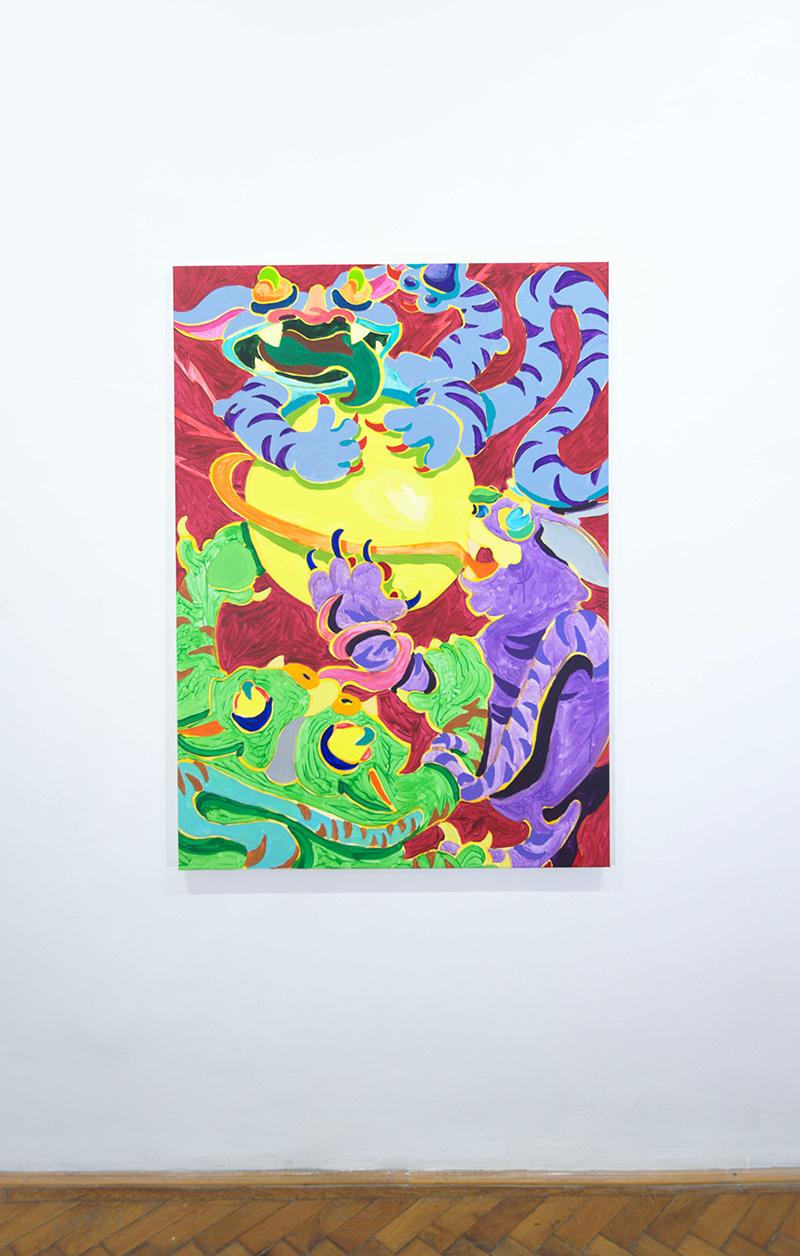 mira makai, acryl on canvas, painting, contemporary art, color