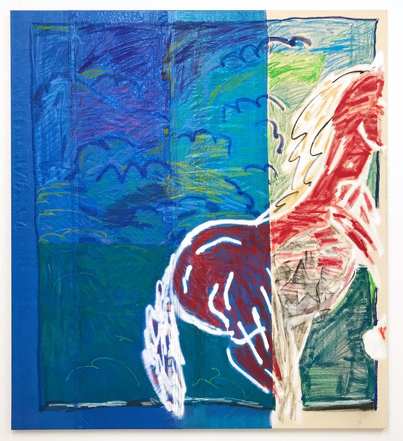 kunstplatform, malerei, pferde, oil, pastel,