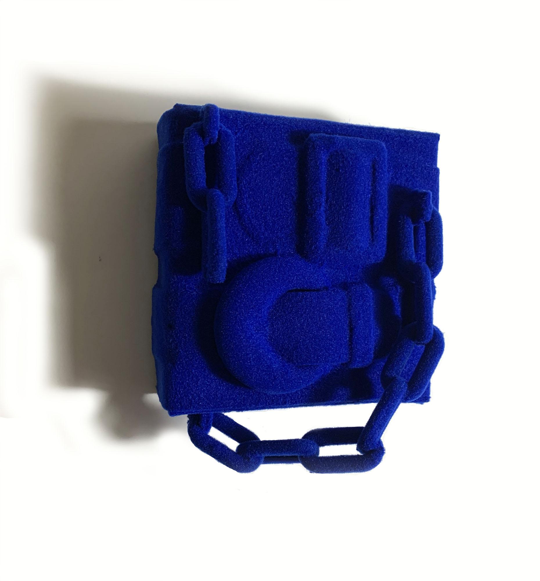 noah kashiani, artist, artwork, blue bag