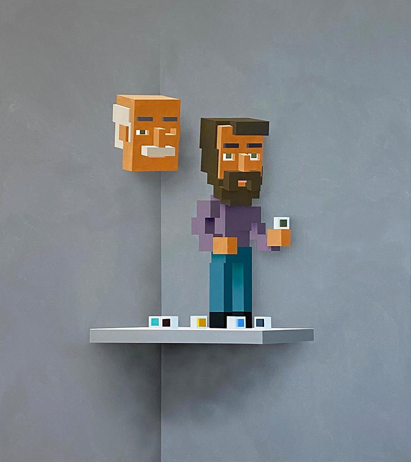 platform, artist to watch, oil paint on canvas, portrait, figurative, cognitive sculpture,