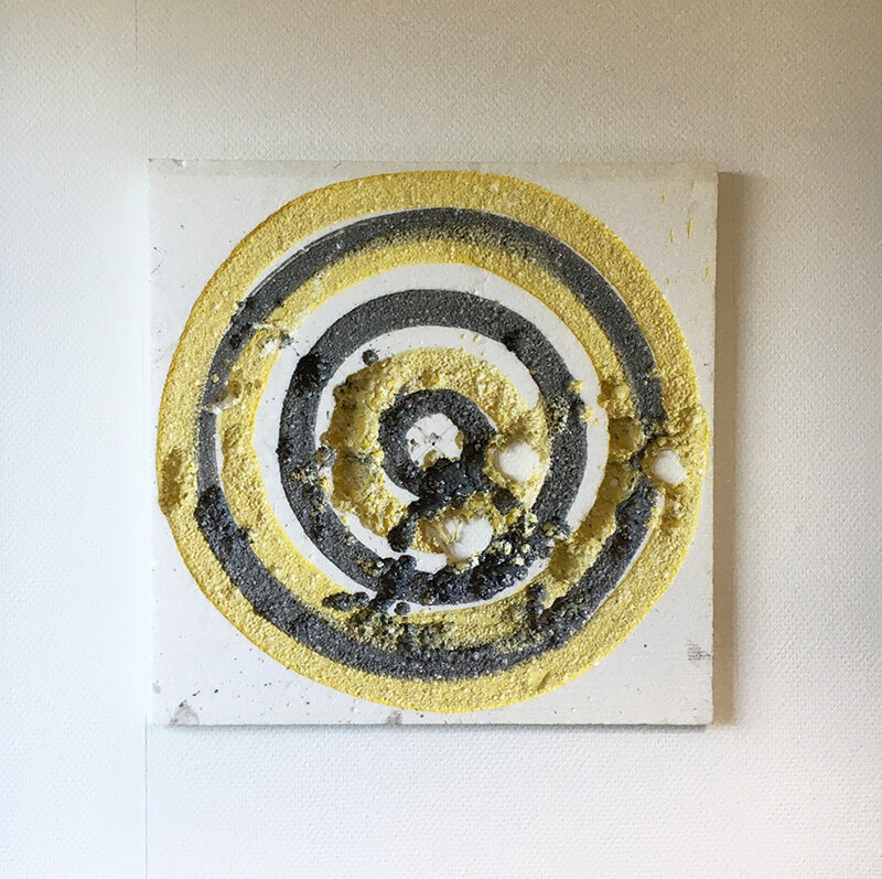 abstract expressive, drawings, cutting edge, unique, dart board, styrofoam