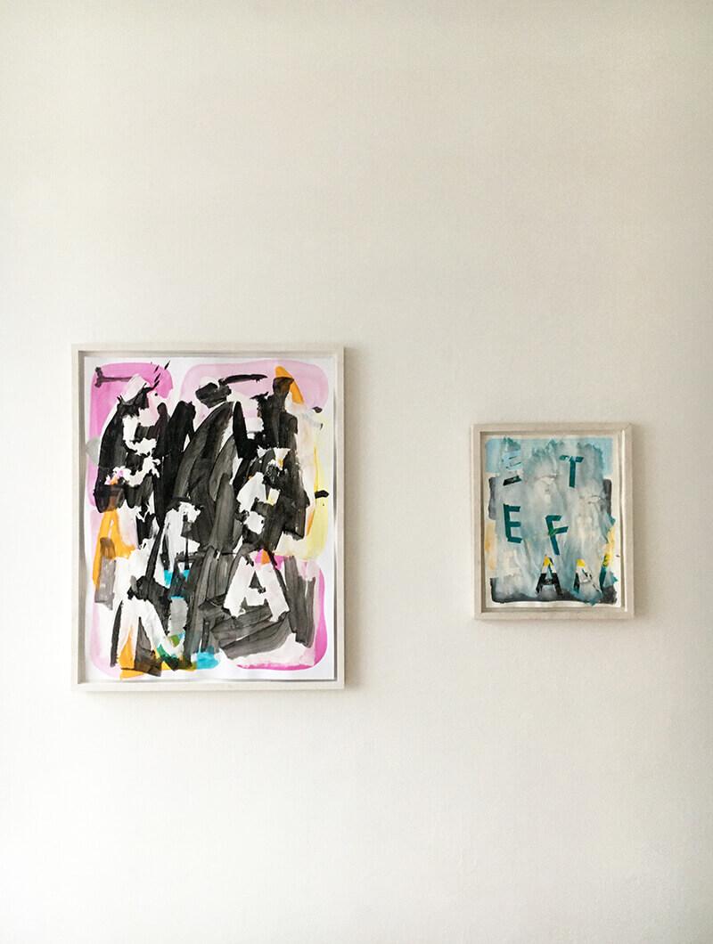 framed work, gerahmte bilder, exhibition, show, ausstellung