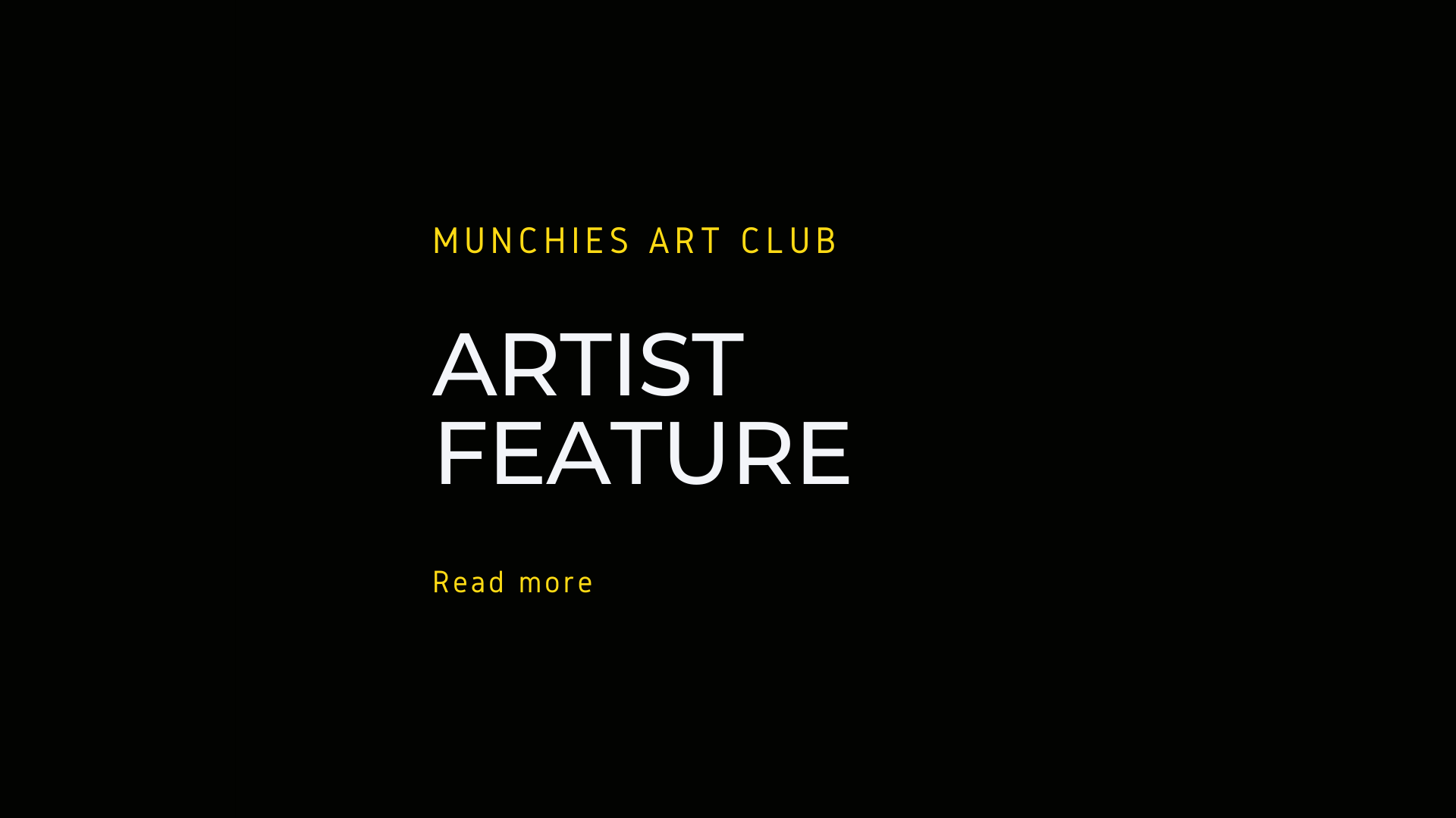munchies art Club, artist feature, link