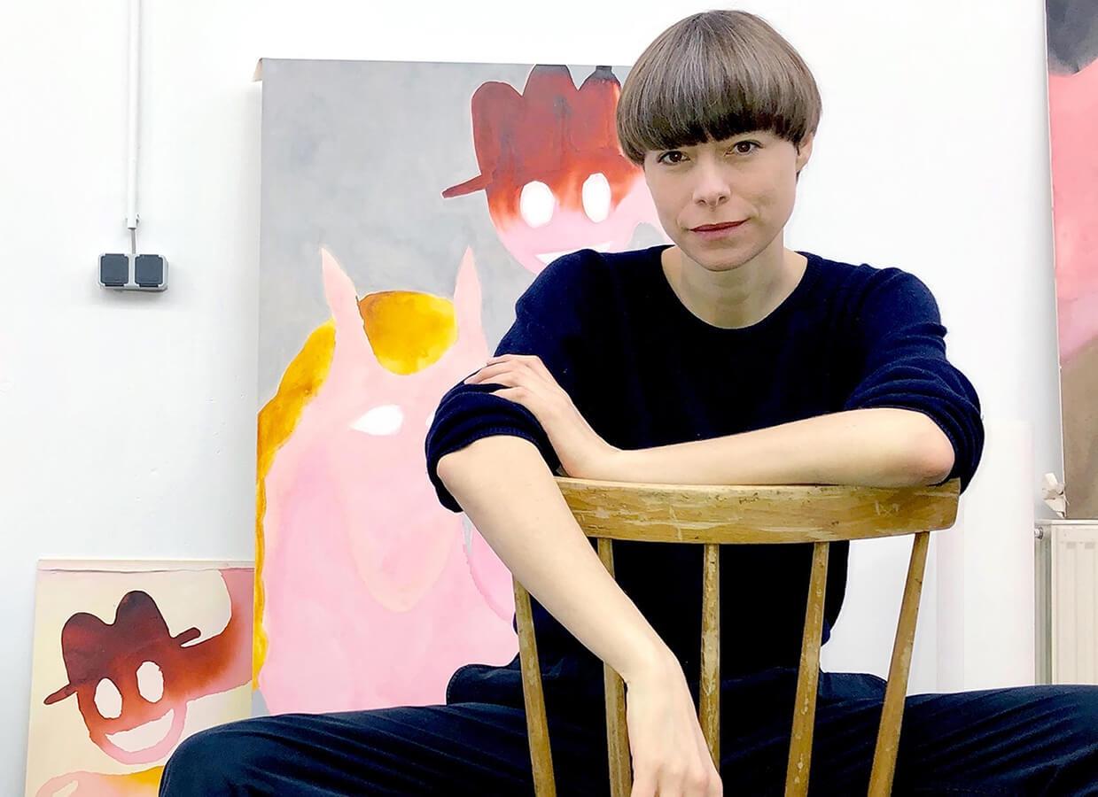 sarah bogner, studio, artist, horse painting, contemporary