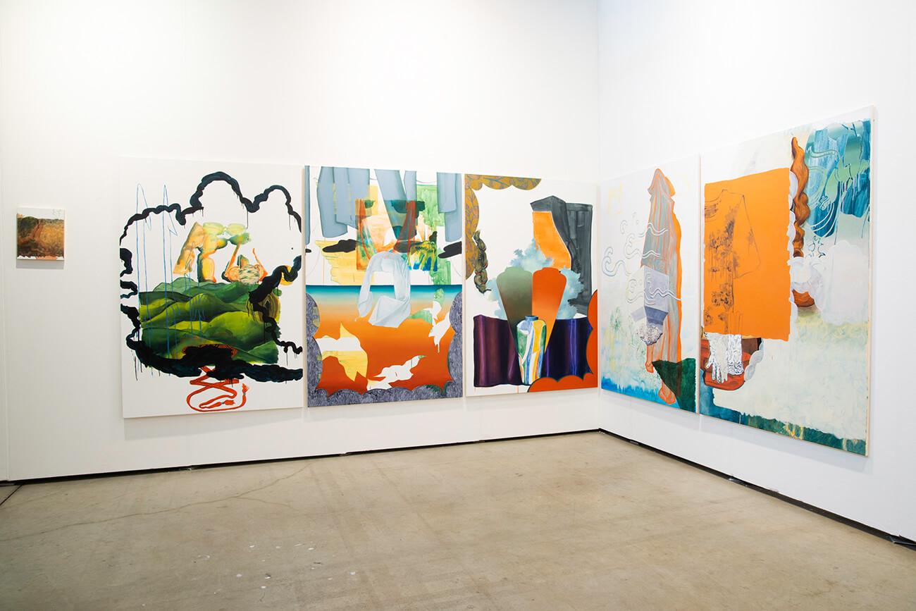 vienna contemporary, art fair, titania seidl, booth, painting
