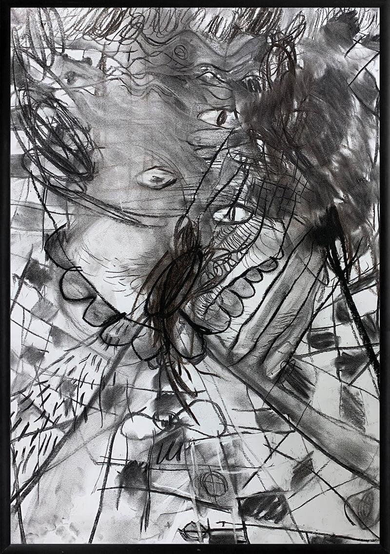 pulsating, graphite, Serbian, studio, atelier, work space,