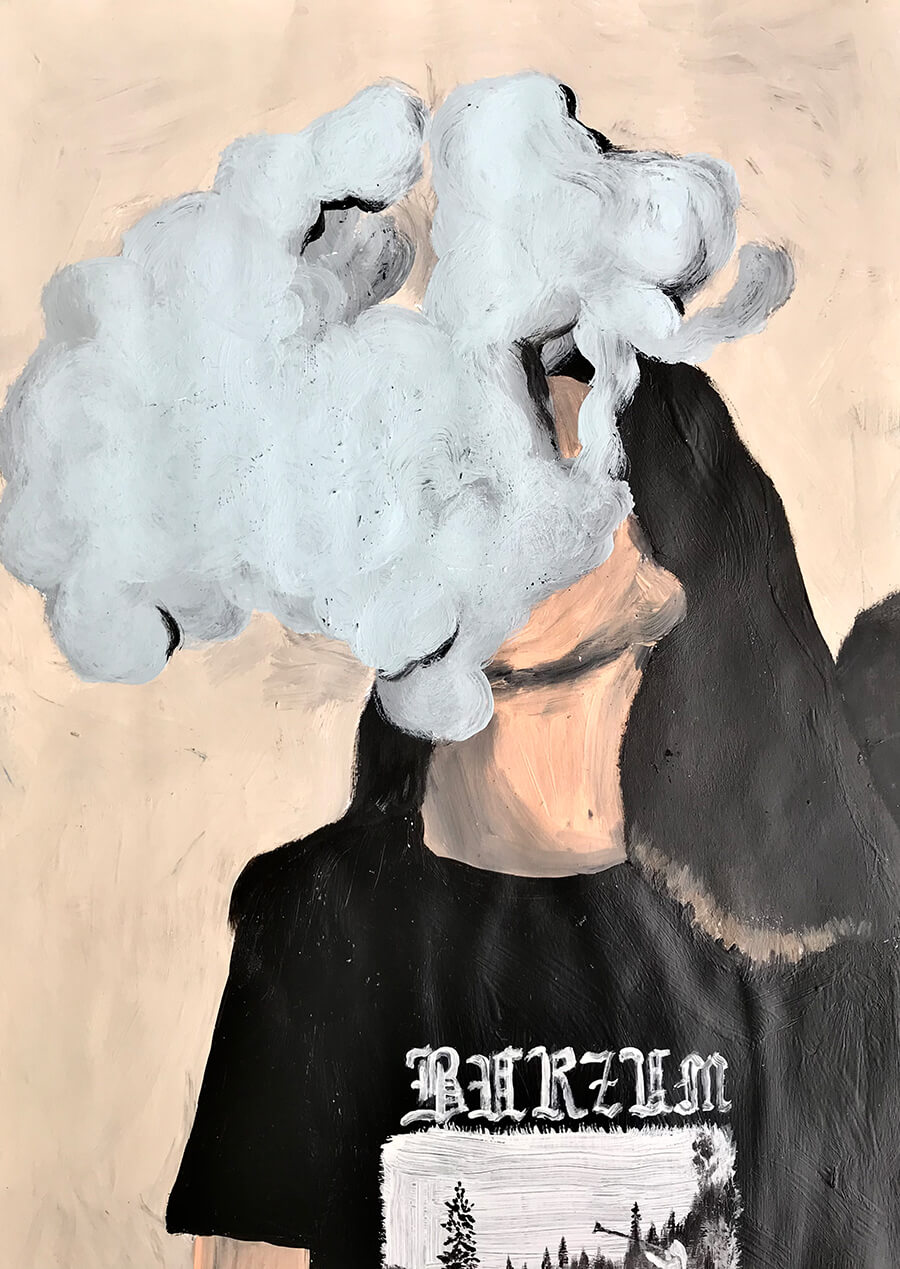 contemporary art, figurative, painting, acrylic, canvas