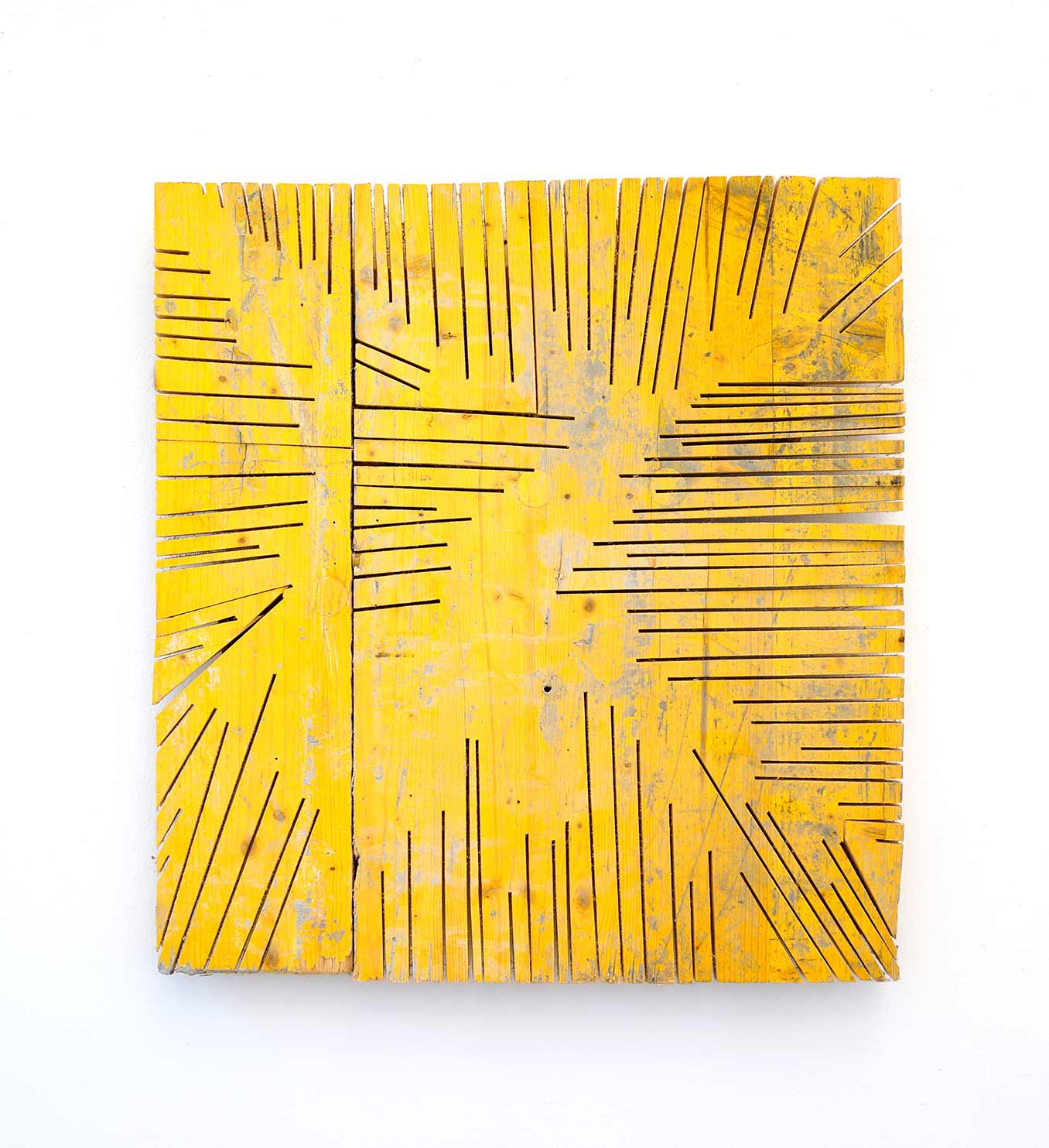 yellow wood, object, artwork, woodcut, conceptual, flatland, landscape, ernst koslitsch