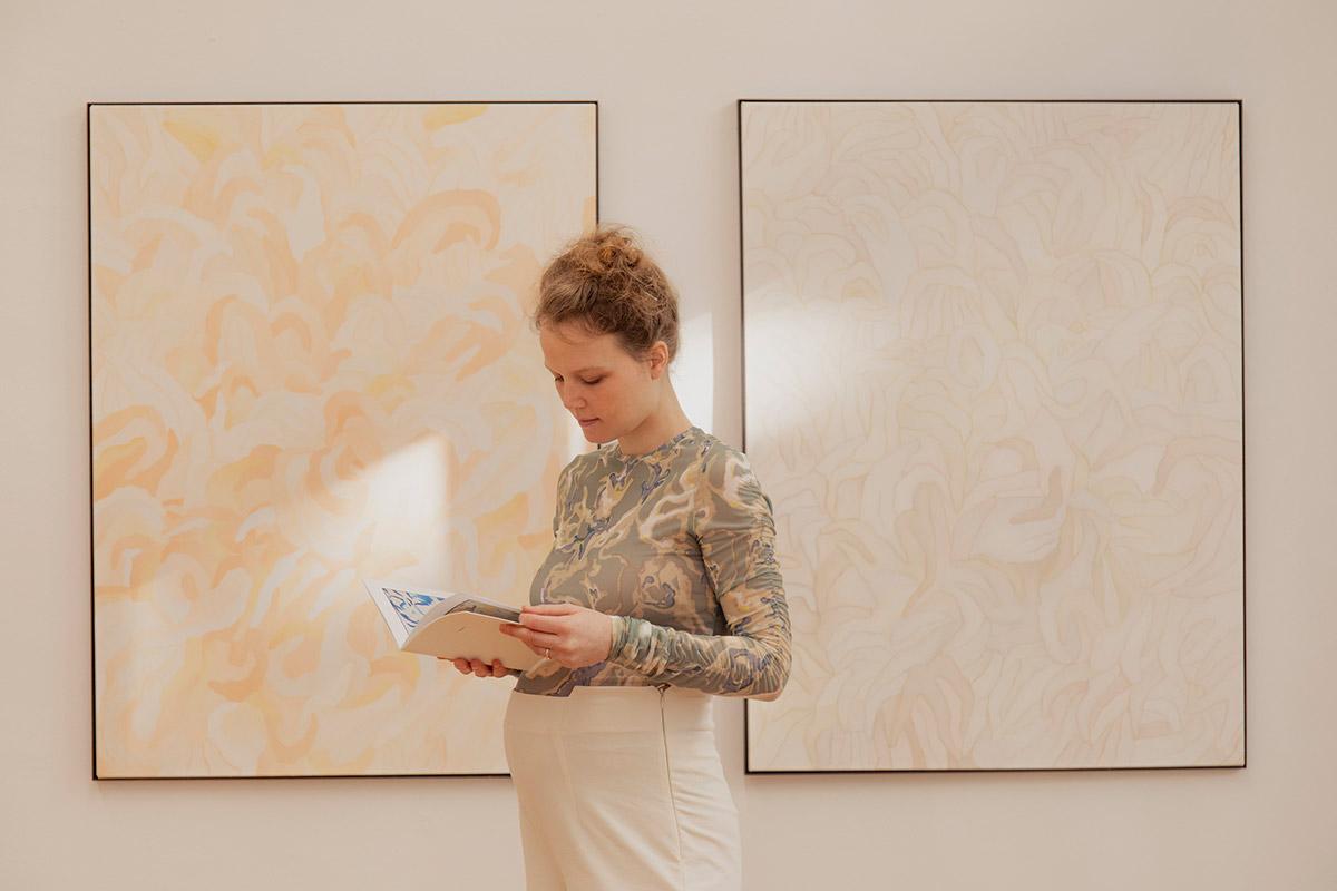oil painting, mixed media, motherhood, women painter