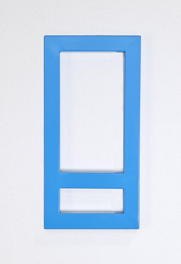 blue minimial, artwork, donald judd meets emanuel ehgartner, vienna based artist