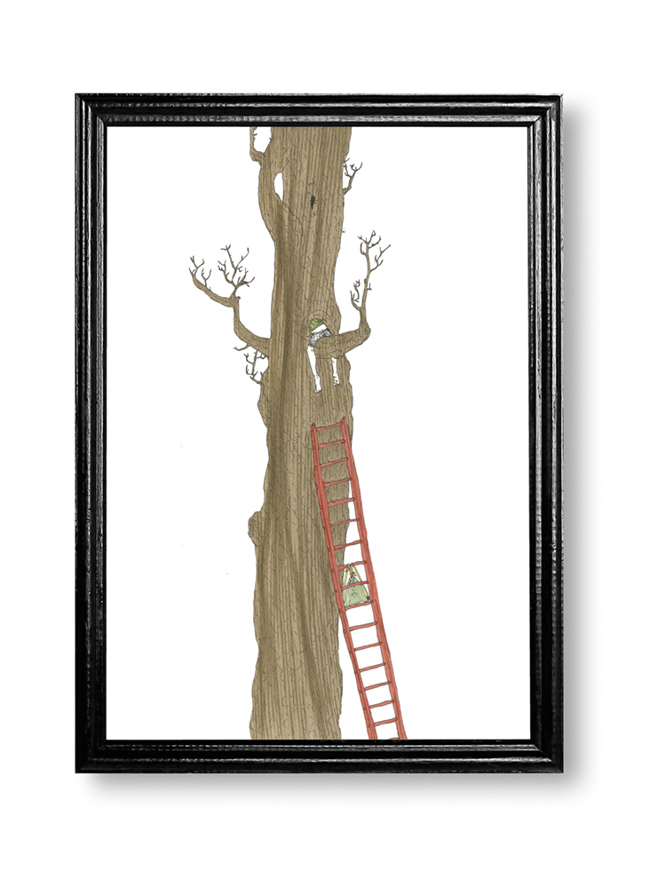 curiosity in contemporary art, child, climbing, tree, drawing, countryside, anna stemmer dworak