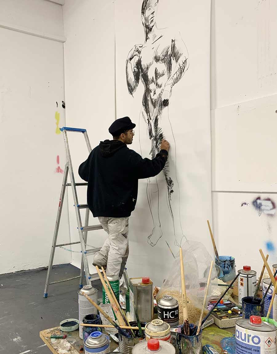works on paper, canvas, medium, mixed media, instagram, 2020