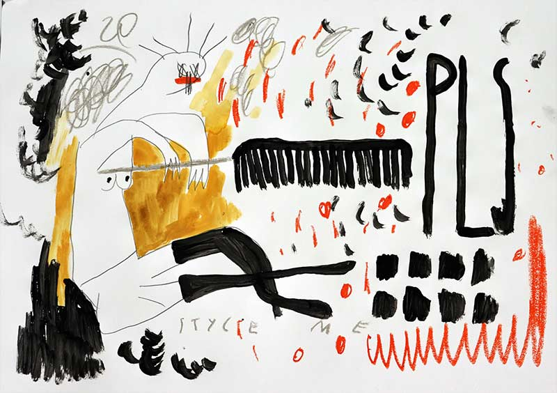 figurative, naive, painting, art student, young artist, female artist, domi gratz