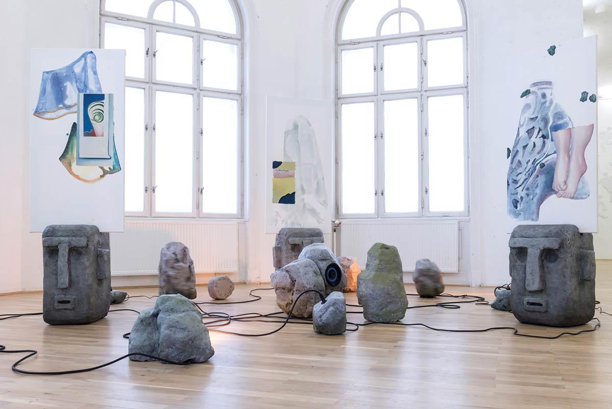 titania seidl, lukas thaler, artist, installation view, exhibition antroporary