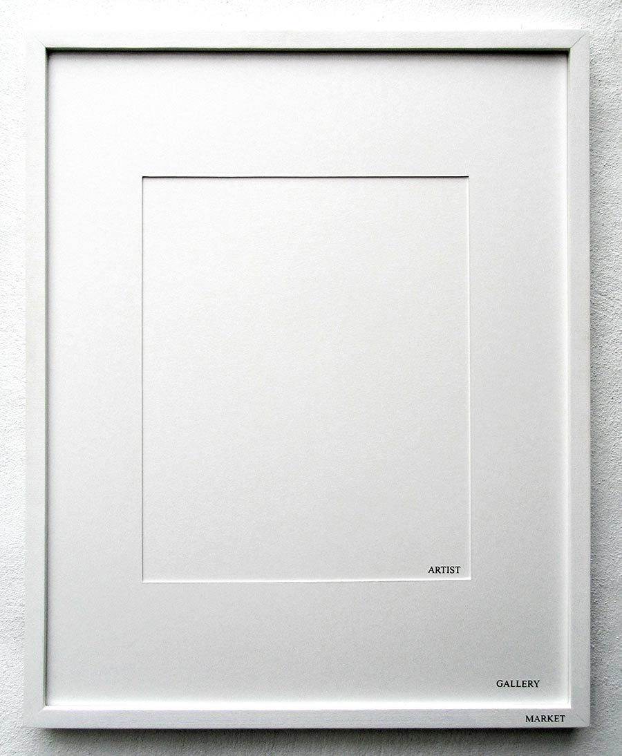 artwork, white framed, conceptual artist, peter de meyer, geukens de vil, antwerp