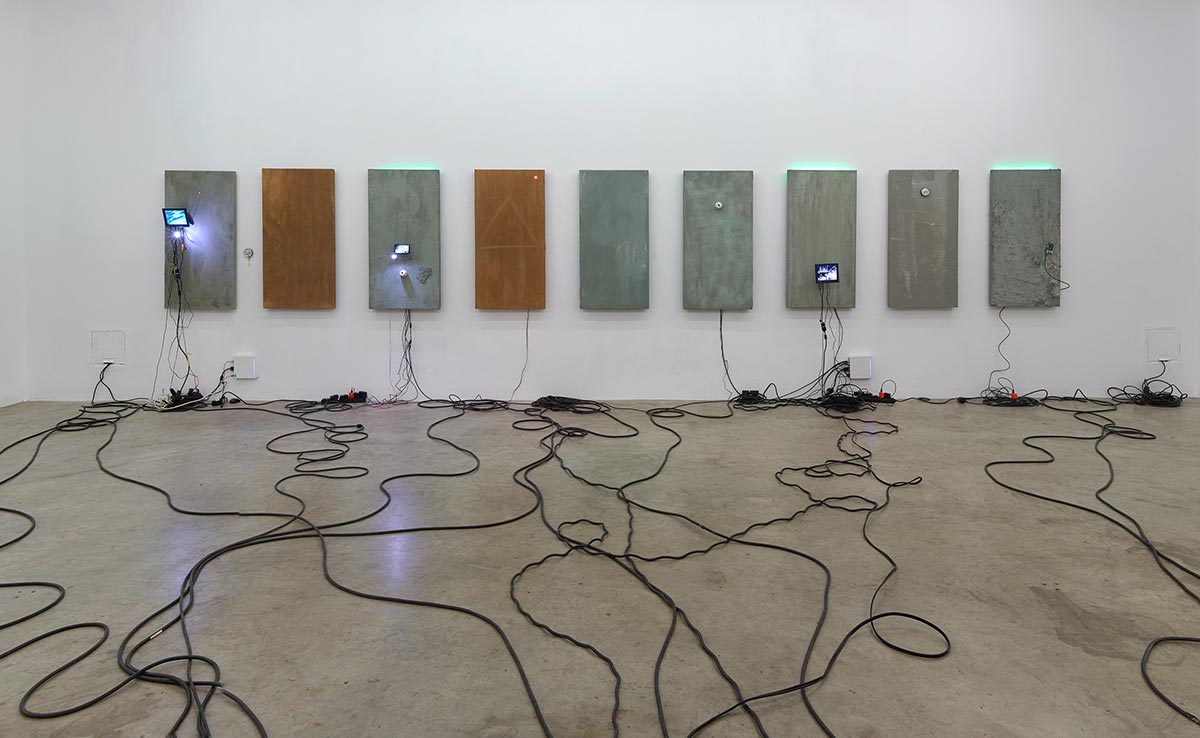 julia scher, installation art, mixed media, aesthetics, visualization