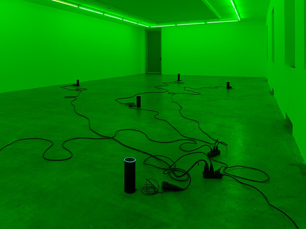 julia scher, viewing room, private, analogue, sculptures