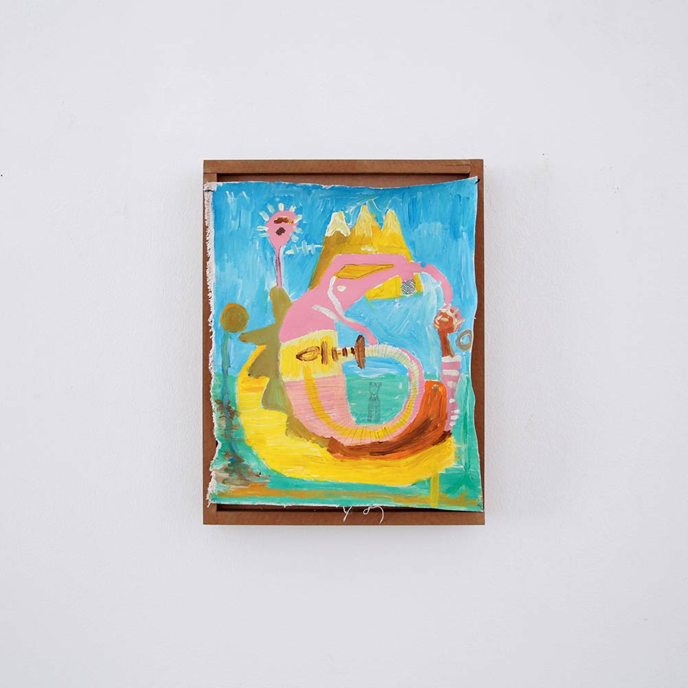 painting on canvas, holy mountain, figure, fantasie, artwork, outsider art, ernst koslitsch, framed, wall