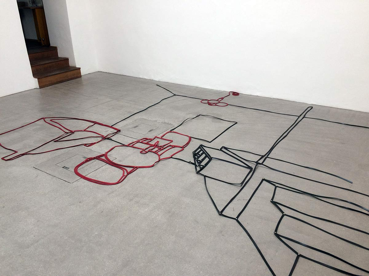floor installation, living room, leather, artwork, contemporary, viewing room, munchies art club