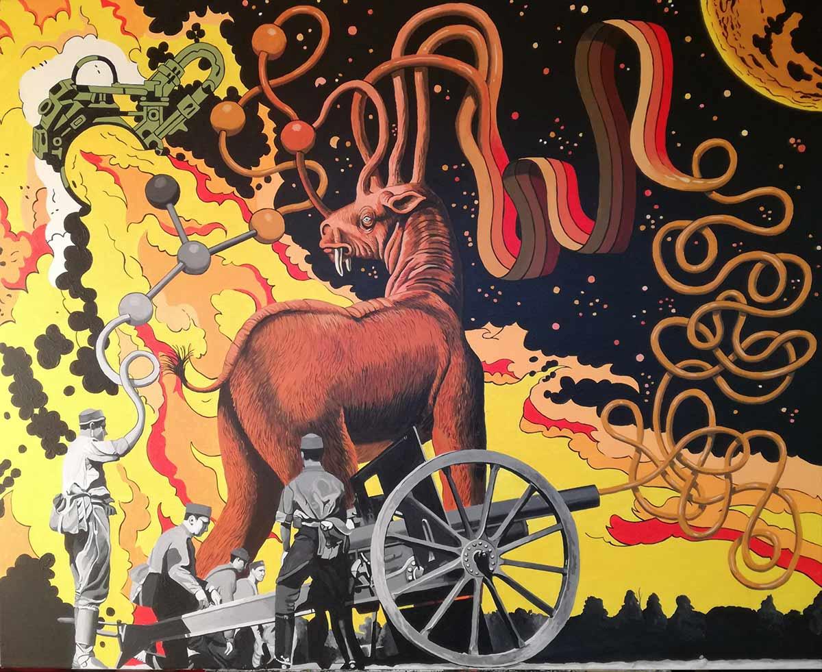 spanish, pop culture, complutense university, fine arts, giant monsters, vintage space crafts,