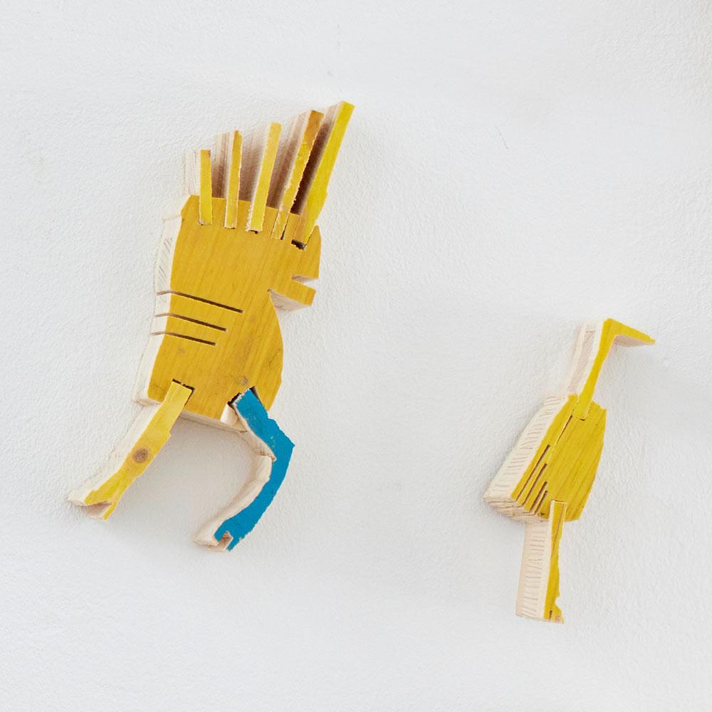 yellow, wood, carving, artwork, wallpiece