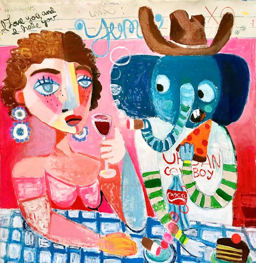 playful art, childlike, childhood, simplistic, expressive, philip gusto