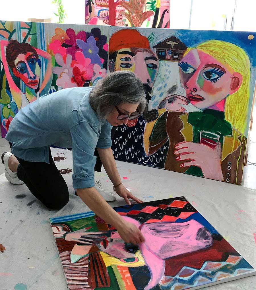 artist to watch, emerging, japanese paintings, biennial, rockland