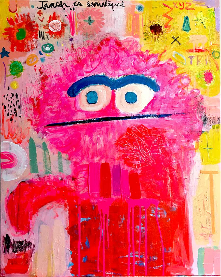 atelier, work space, young art, abstract artworks, toy, acrylic painting,