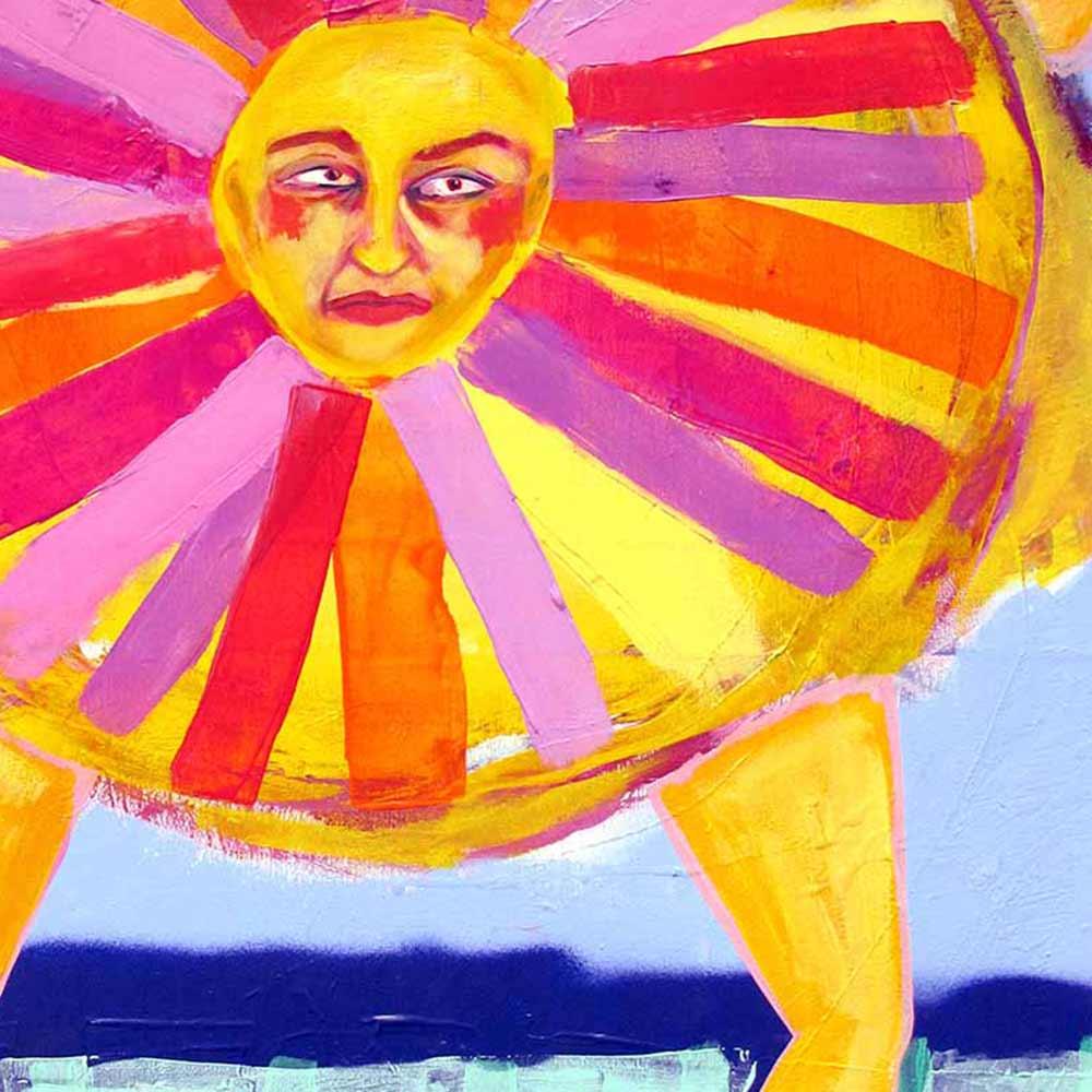sun, painting, feusi, artist, art student