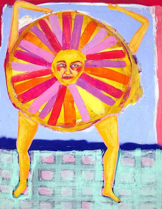alexandra feusi, artwork, painting, canvas, coloful, figurative, contemporary art, artist,