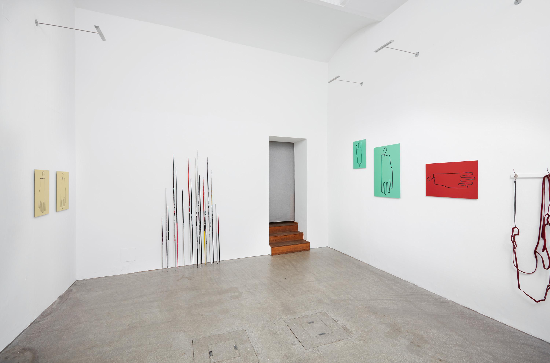 domino, installation, black and white, view, viewing, thomas smetana,