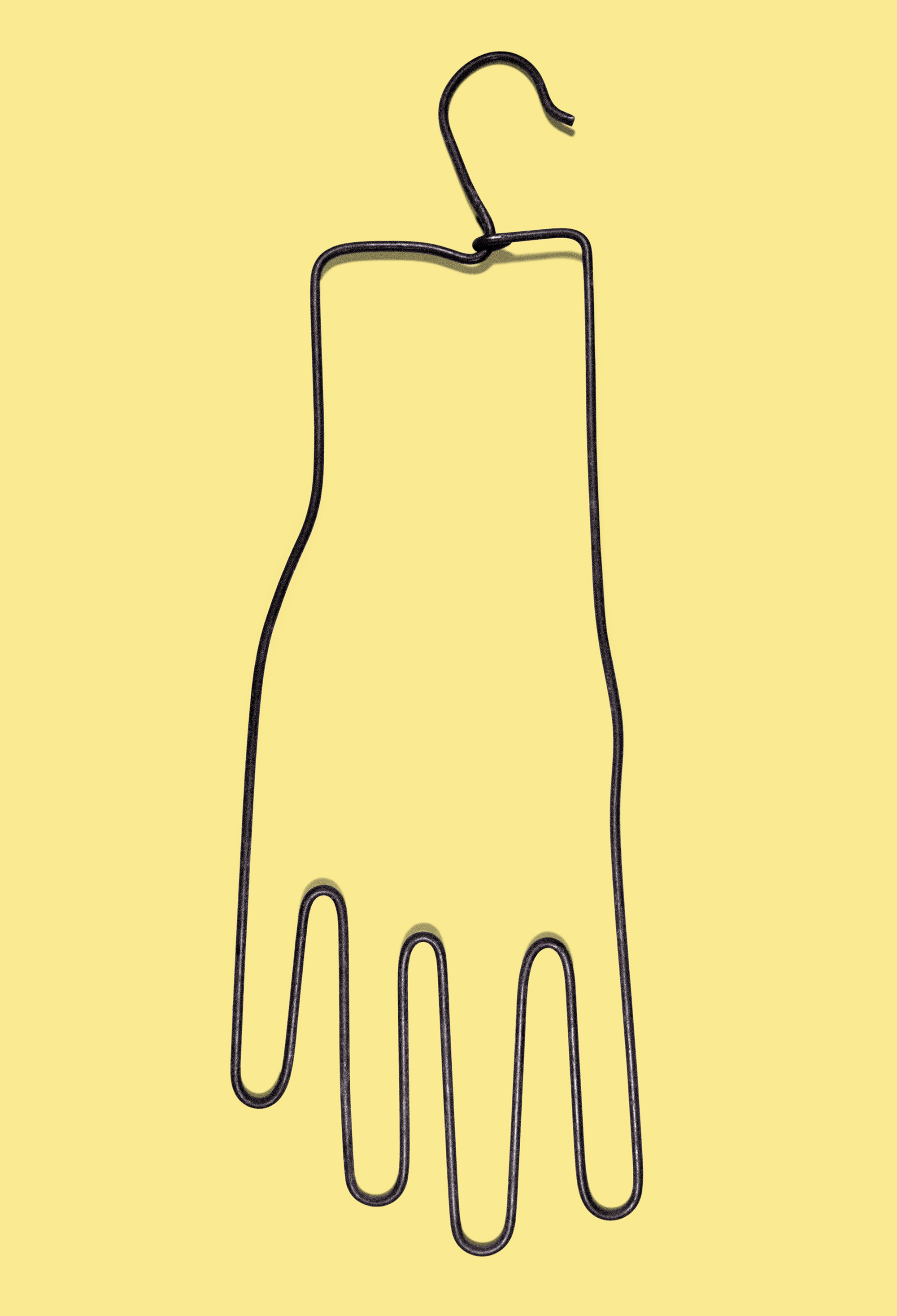 yellow, hands up, object, available artwork, andrea van der straeten,