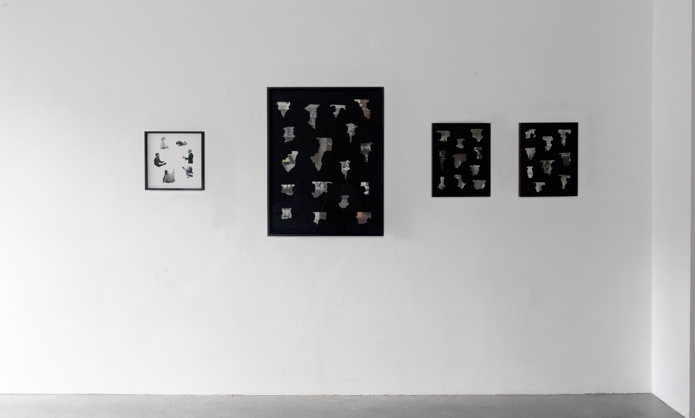gallery raum mit licht, art show, domino, group, growing