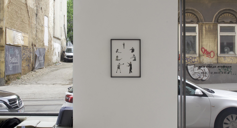 online viewing room, modern art, collage, framed work, munchies art club, raum mit licht, domino exhibition, vienna