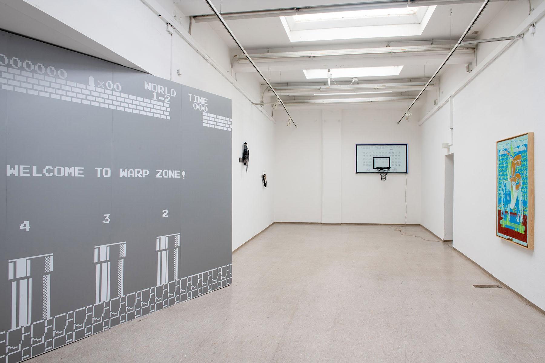 hub, war zone, stretcher frame, canvas, kunstverein kohlenhof