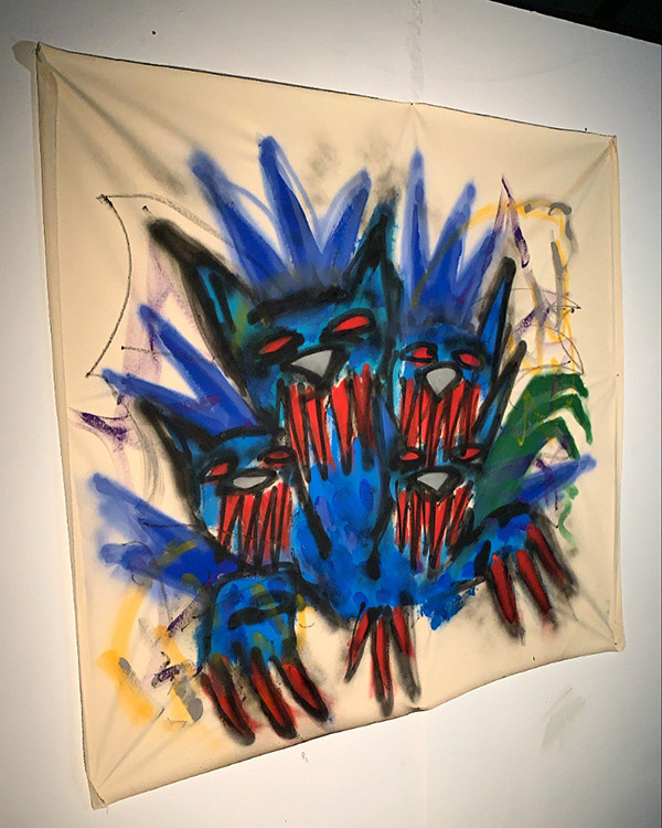 sergio borrego, painter, expressionism, emerging, contemporary art, modern painting, mixed-media, spray-painting, greasy chalk