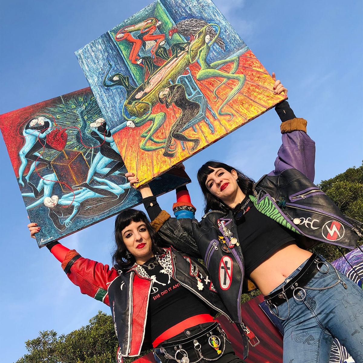 contemporary art, artistic duo, twins , female artist
