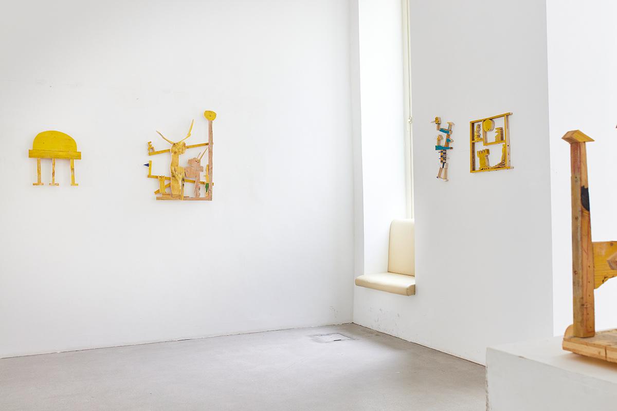 ernst koslitsch, constructed mythology series, bird, blue, walking