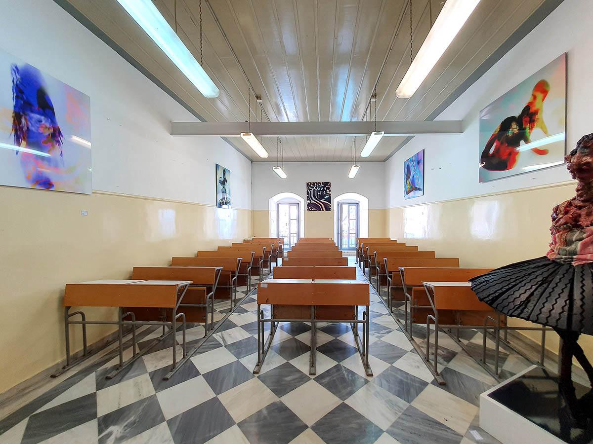 presenting contemporary artists mark bradford, mike kelley, richard woods, erwin wurm, serge gainsbourg, danny palillo, thomas diotis, versaweiss, dimitris papaionannou and Euripides Laskaridis.