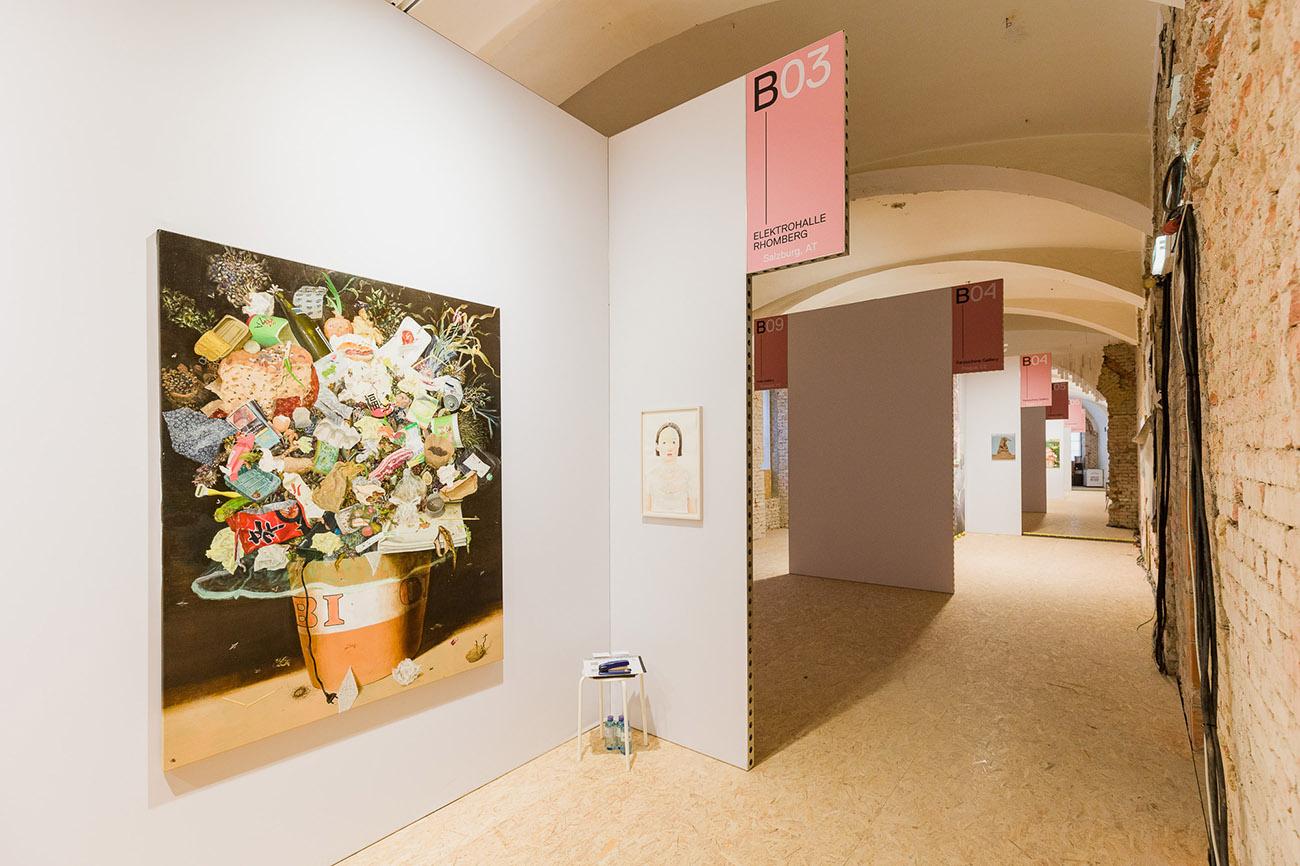 elektrohalle, rhomberg, germany., art fair, oil painting, large wall art