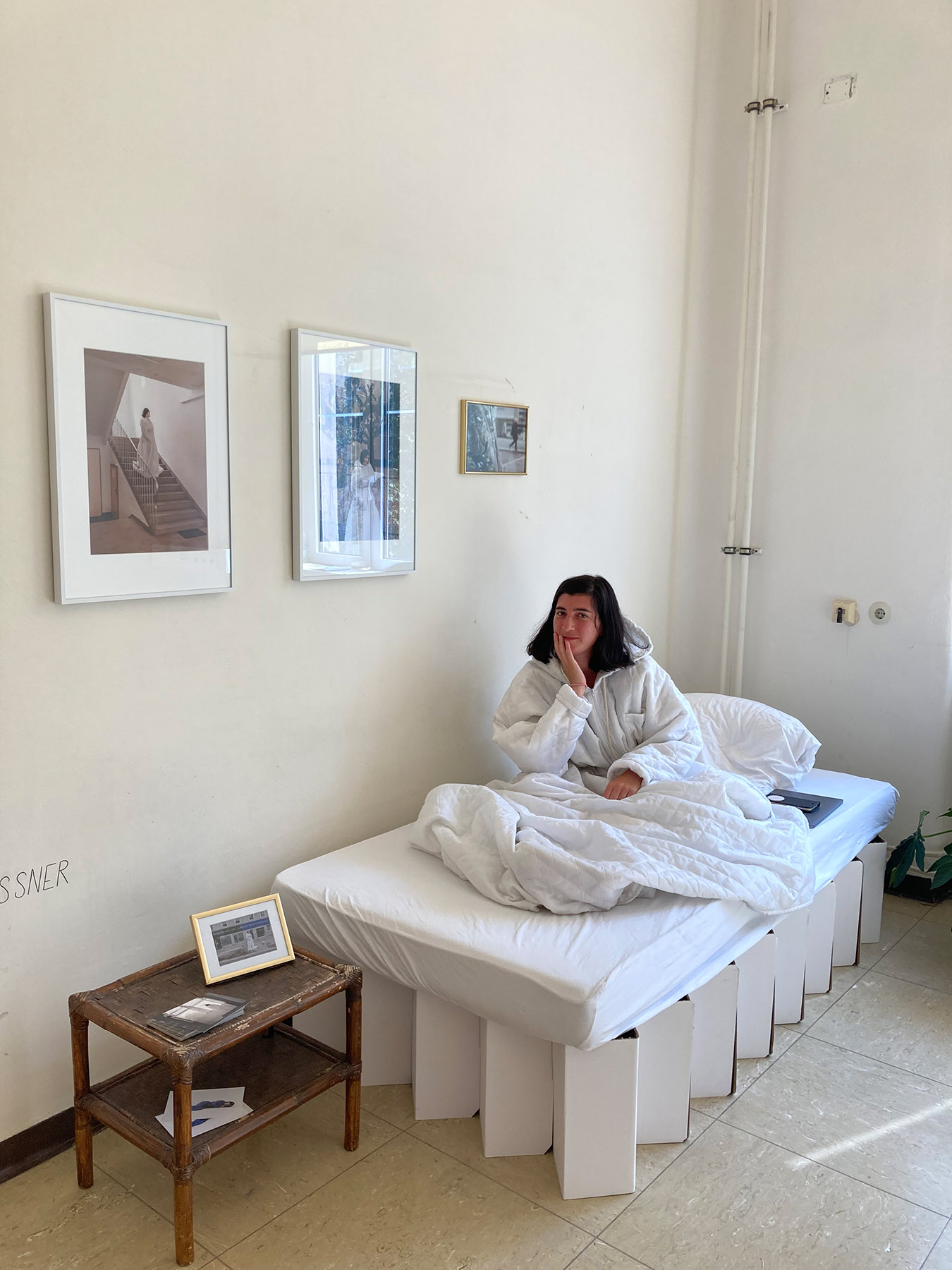 anne glassner, periscope, art project, sleeping, bed, art performance