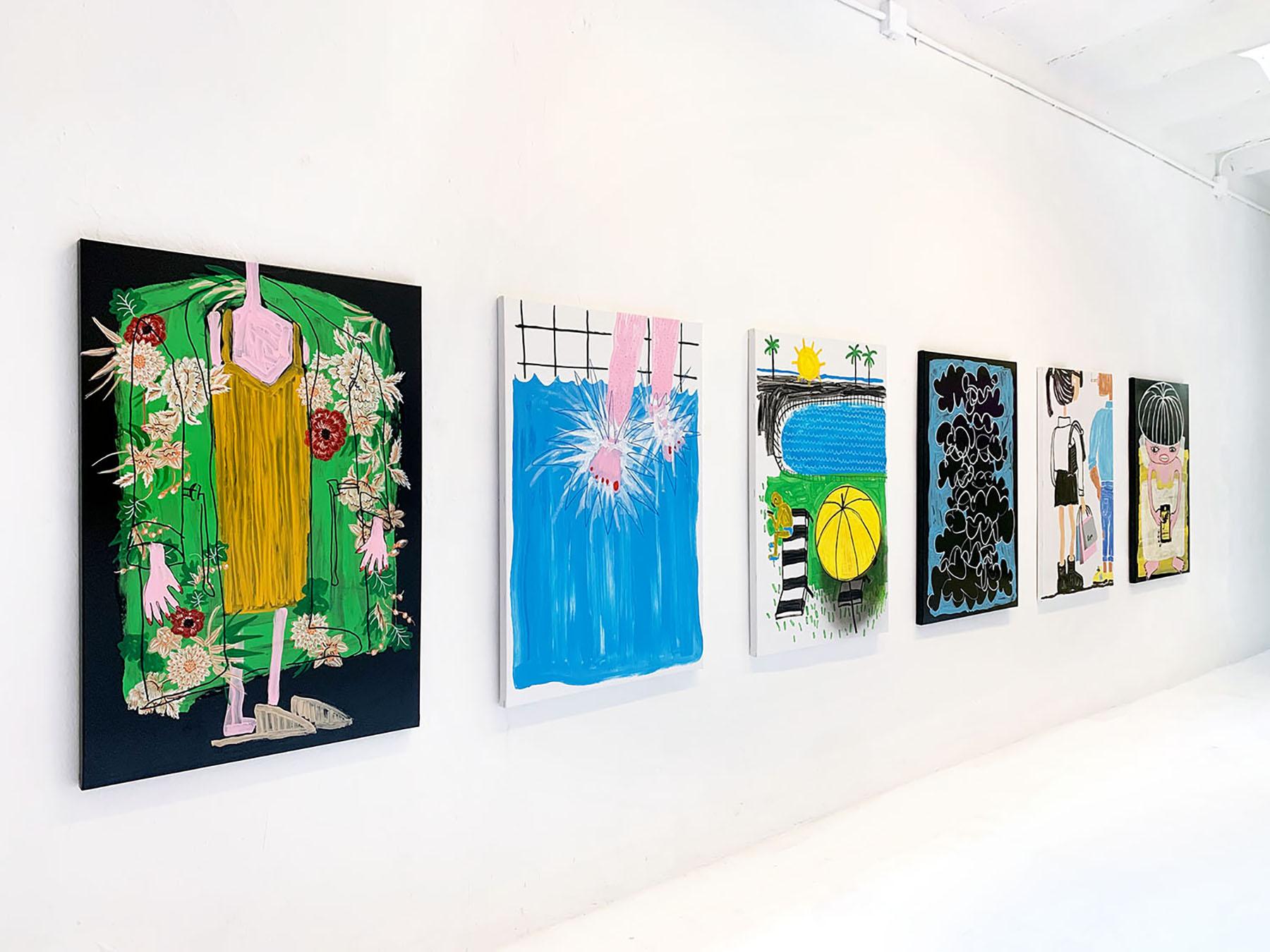 online exhibition, on view, painting, original work on paper, canvas, unique