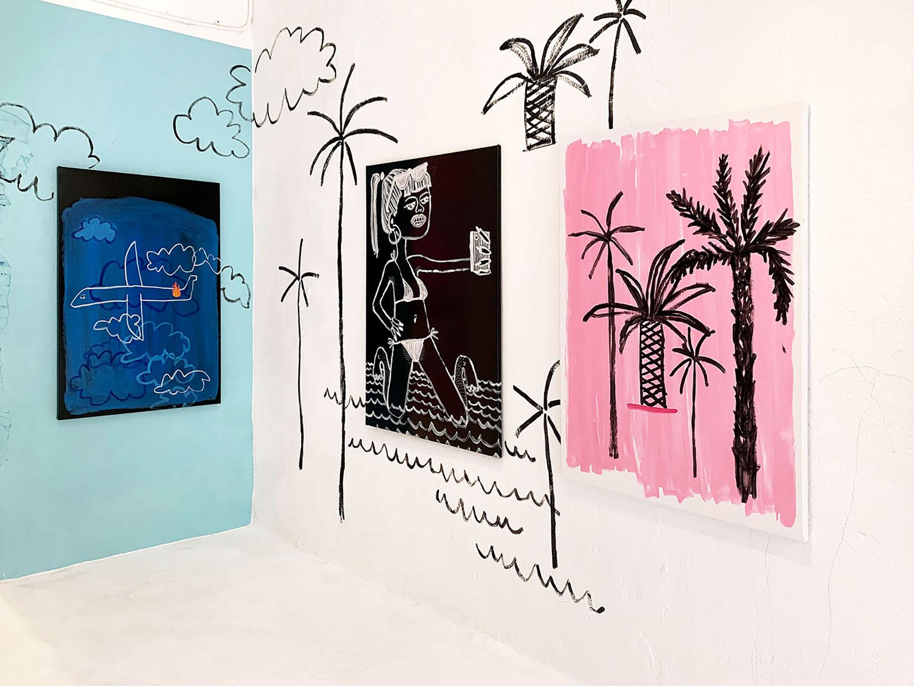 gallery weekend barcelona, uxval gochez gallery, katharina arndt, german female, emerging, painter, art to collect, available artworks, wall art, spotlight