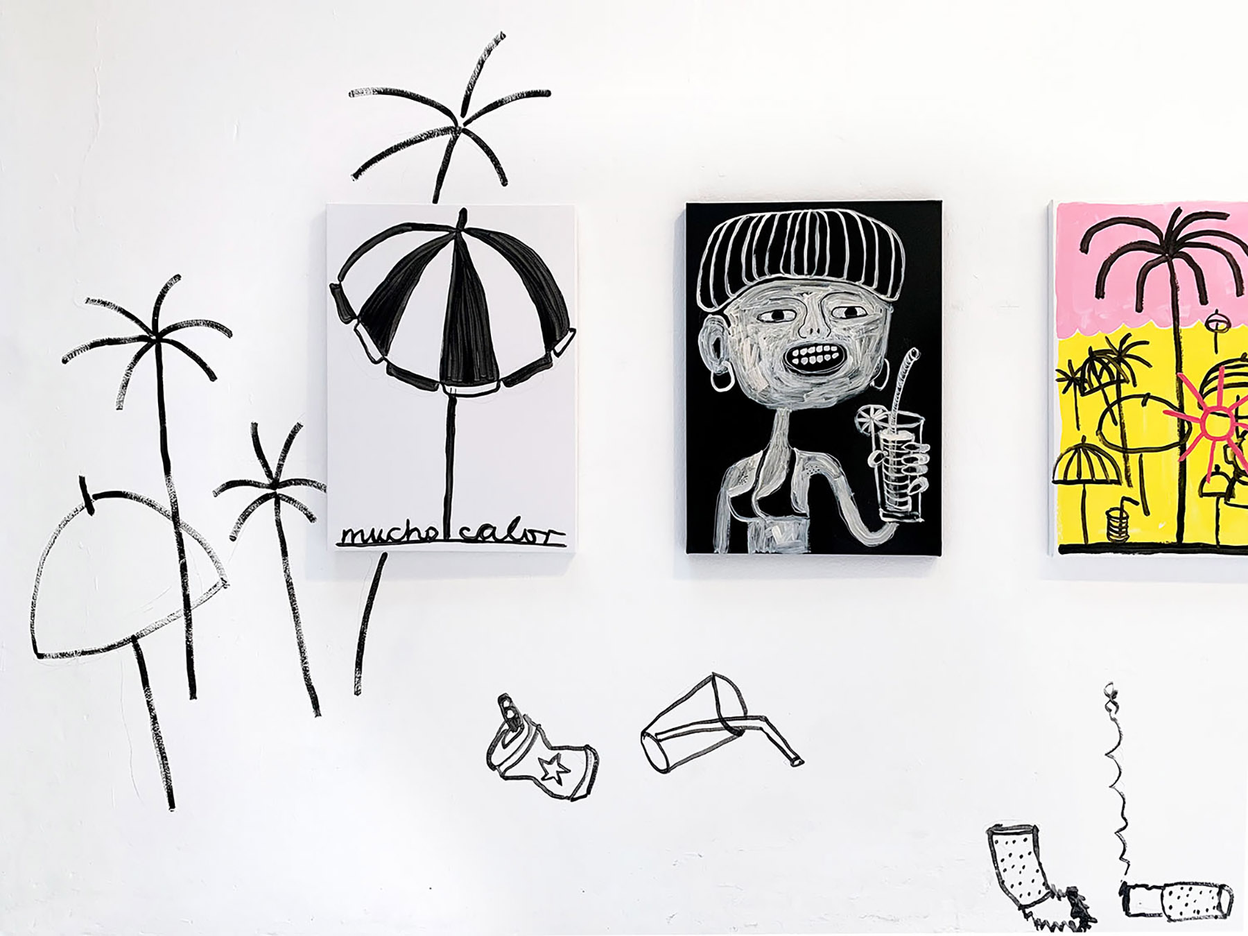 solo show, uxval gochez, viewing room, munchies art club