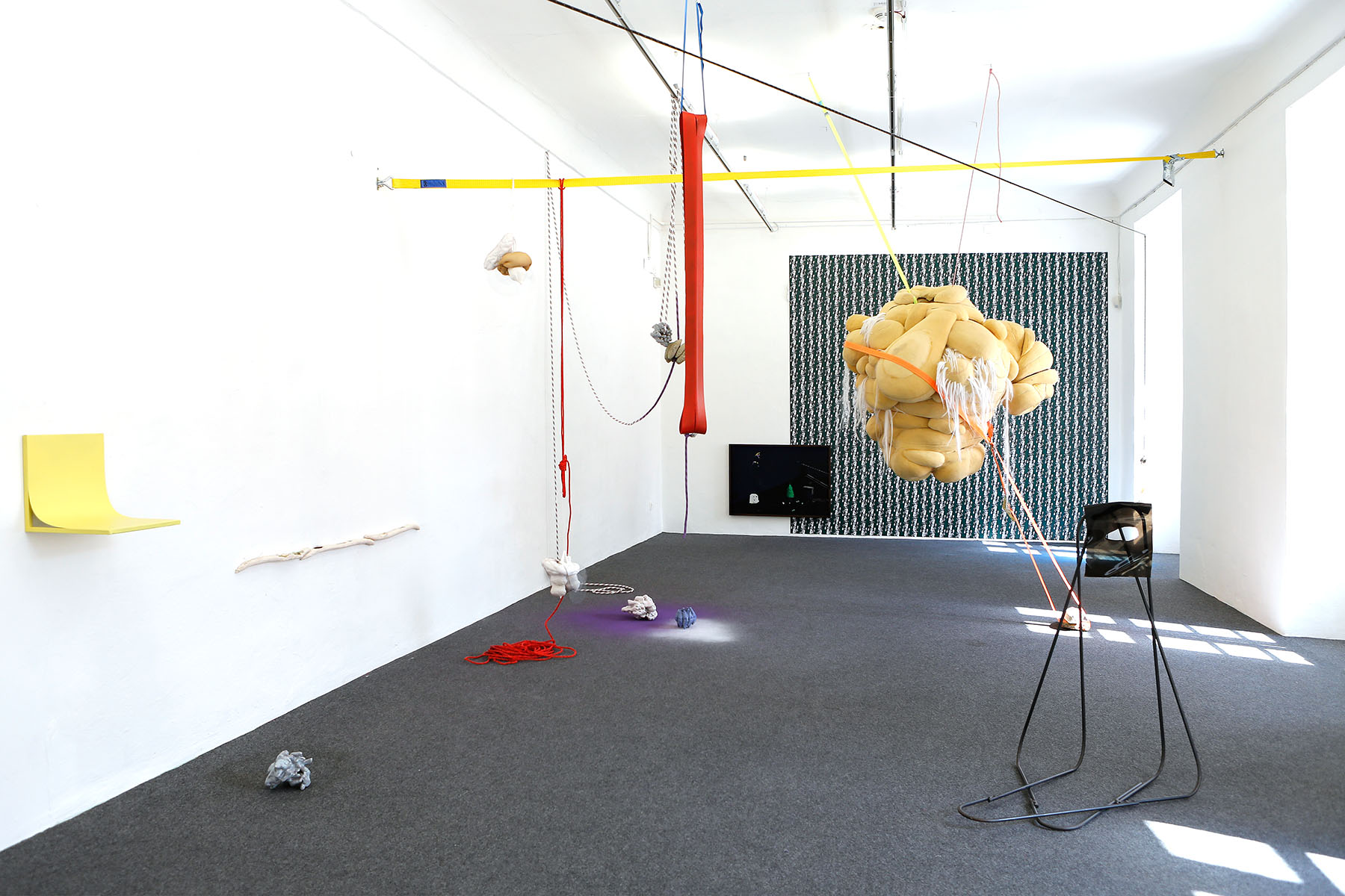 contemporary art installation, exhibition view, installation, group show,